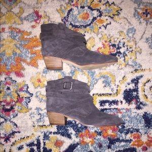 Nine West Grey Suede Boots